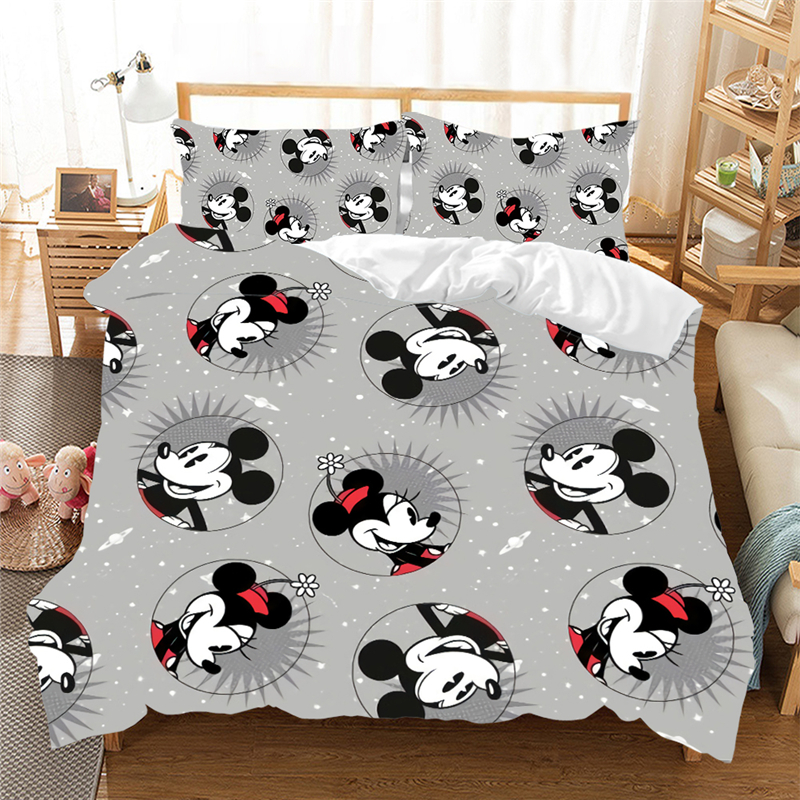 Mickey Mouse Bedding Set Queen King Size Bed Set Children Boy Girl Mickey Minnie Duvet Cover Pillow Case Comforter Bedding Sets Bedding Sets Aliexpress