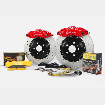 DISCASE A61 big brake caliper red color 20 inches 6 pot brake caliper with discs and pad for front wheel for audi a6 c7