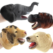 Wild animal marine glove puppet Halloween props children model toy perfect Christmas gift finger