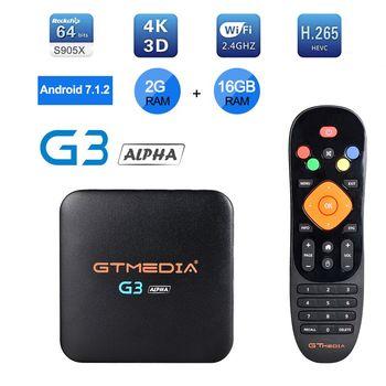 IPTV M3U GTmedia G2 Smart tv box android 7.1, 4K HDR Quad Core 2G 8G WIFI Google Cast Netflix IPTV Set top Box 4 Media Player