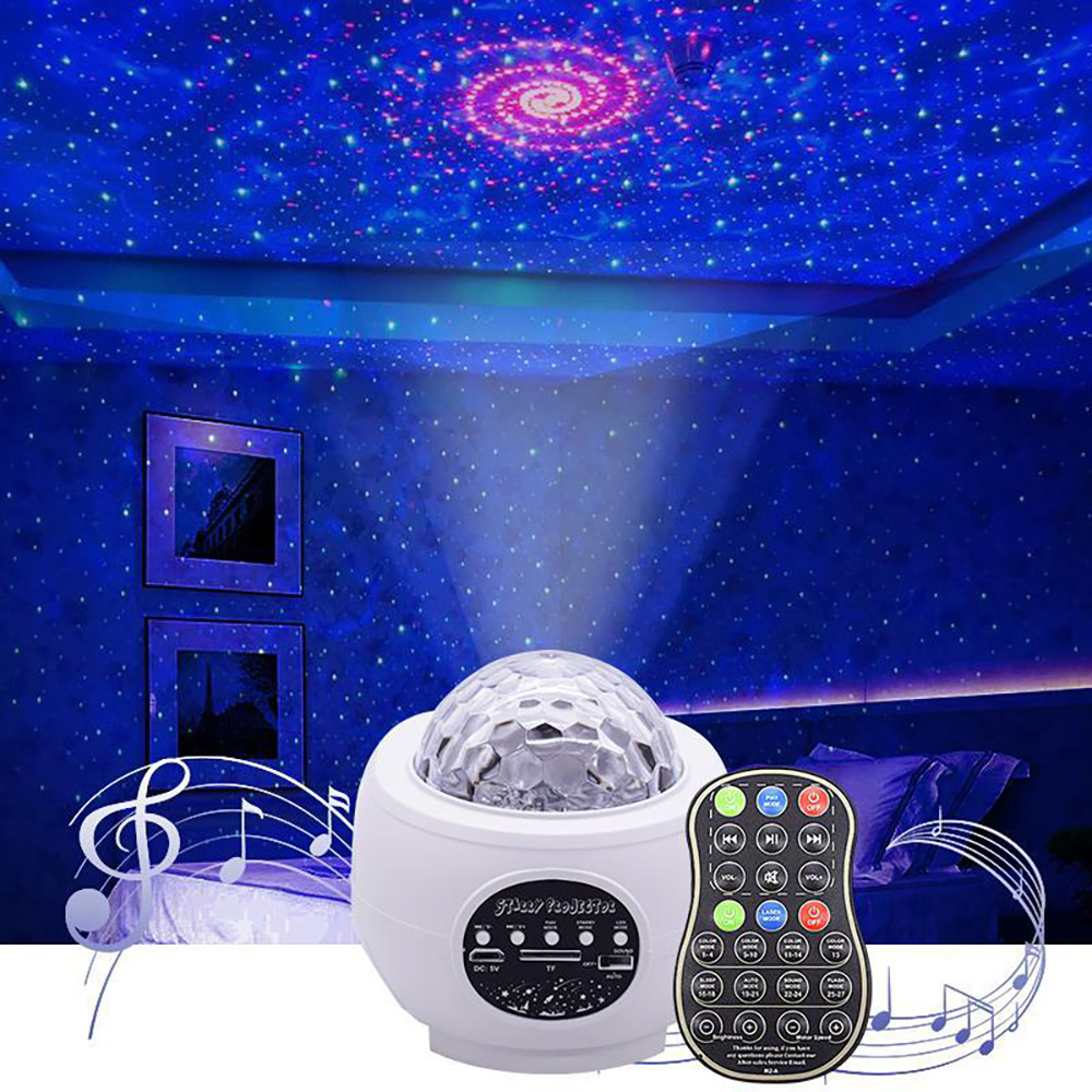 Galaxy Projector Light Colorful Starry Sky Galaxy Projector Blueteeth Voice Control Music Play LED Night Light Bluetooth Speaker