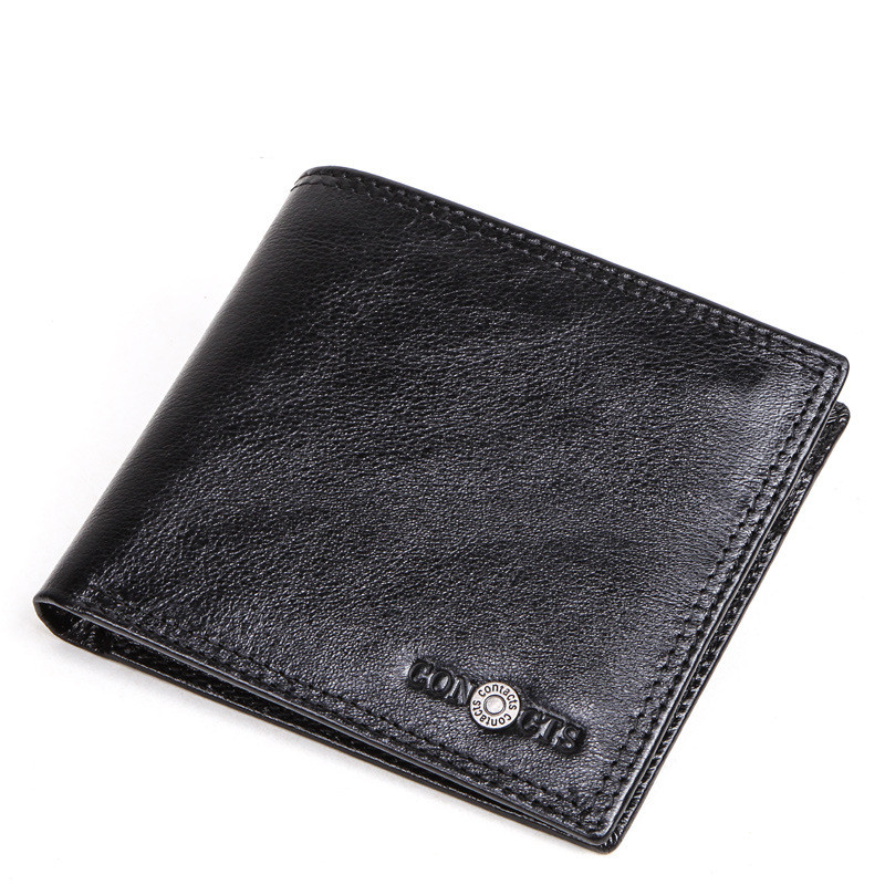 Men's Wallet Retro Crazy Horse Leather  Cross-section Leather Gift Card Holder