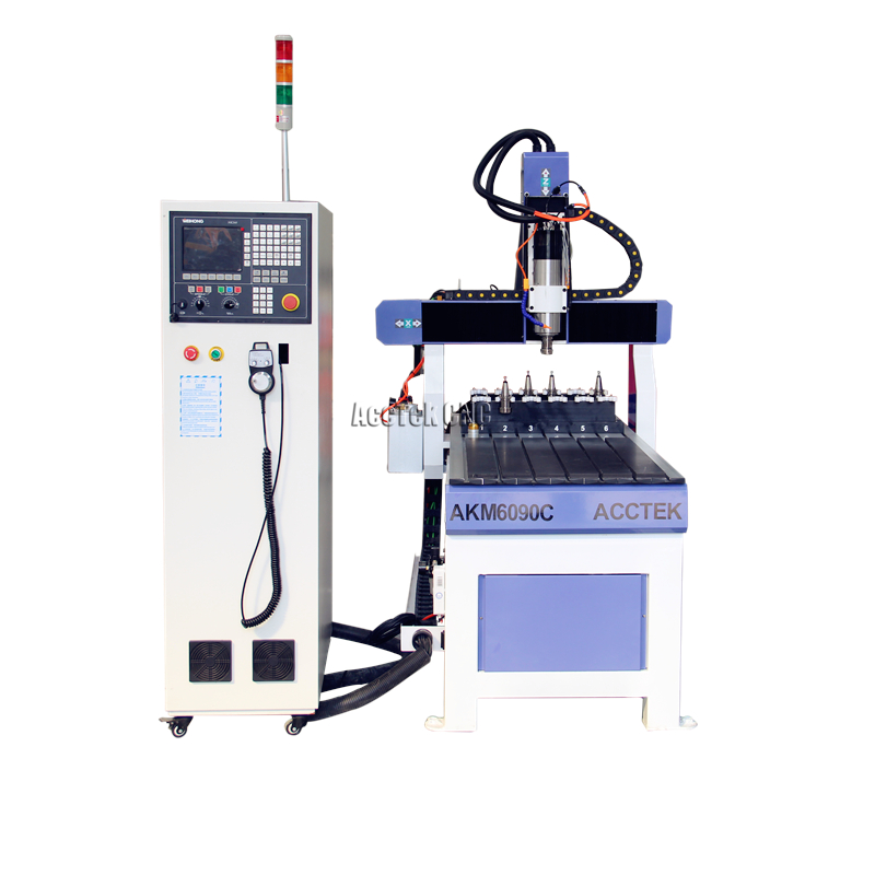 <font><b>CNC</b></font> <font><b>6090</b></font> 2.2kw <font><b>atc</b></font> water cooling spindle small metal automatic <font><b>cnc</b></font> router for making small size wood image