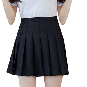 Skirt Ladies Pleated Skirt High Waist Skirt Ladies Chic Summer Student Women Cute Sweet Girl Dance Skirt XS / XXL #YL5