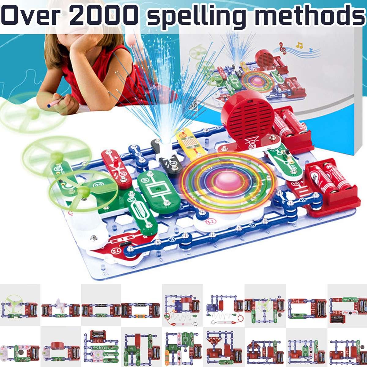Plus de 2000 types de blocs de découverte de l'électronique de Mode composé Kit Circuits électriques éducatifs bricolage assembler des jouets pour les enfants