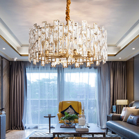 Modern Luxury Crystal Chandelier Lighting Fixture Contemporary Chandeliers Lamp Pendant Hanging Light Fixture
