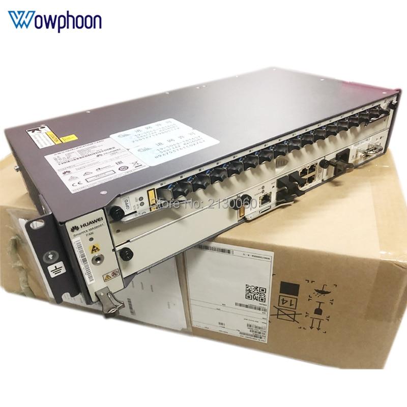 Free Shipping Huawei GPON OLT Equipment MA5608T + 1*MCUD + 1*MPWC + 1*GPFD 16 Port B+ C+ C++, 1G, DC Terminal Linii Optycznej