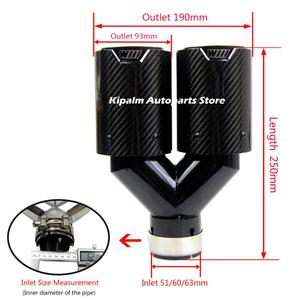 Image 5 - Double Fiber de carbone + acier inoxydable noir universel