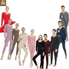 Shirt Autumn Base Thermal-Underwear-Set Couple Fever Trace Female Man Plus-Size Woman