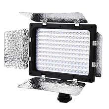 W160 светодиодный видео светильник 6000K студийный фон для фотосъемки с заполните лампы Панель c рассеивателем «Горячий башмак» 1/4 резьбовое от...