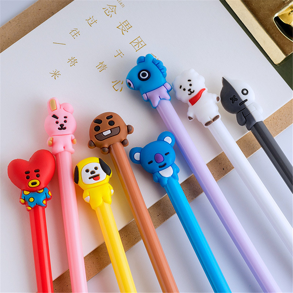 1Pcs Q Version Gel Pen Cute Creative Water Pen Cartoon Animal Gel Pens Signature Pen Student Stationery Office School Supplies