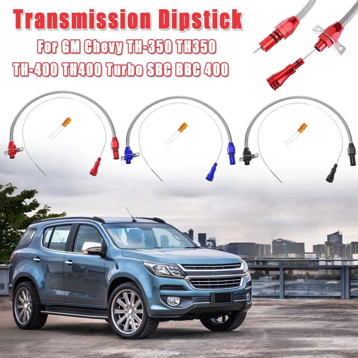530mm Car Transmission Dipstick For Chevy GM TH 350 400 Turbo Flexible Stainless