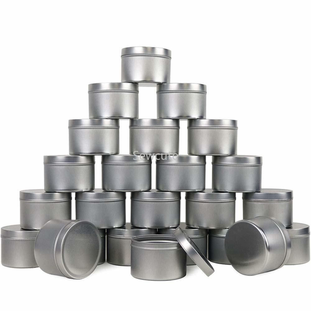 12pack Candle Tins Metal Empty Candle Jar Containers Slip-On Lids For Candle Making Party Favors Food Spices Balms Gels Storage