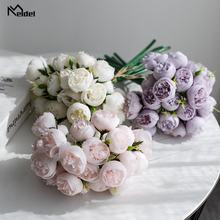 27 маленьких чайных роз искусственные цветы шелковые розы Свадебный