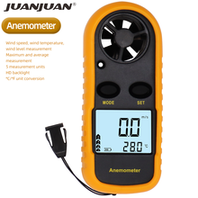 Digital Anemometer Air-Velocity Airflow-Temperature GM816 Mini with LCD Backlight 40%Off