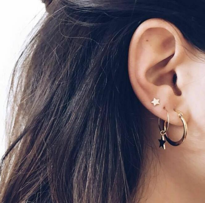 Women Girls Earrings Set Beach Retro Earrings Sexy Glamour Party Jewelry Summer Cute Various Styles Gold Silver 5