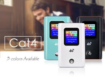 4G Mifi LTE FDD/TDD Portable Pocket Wifi Router Hotspot Modem With Battery Power Bank