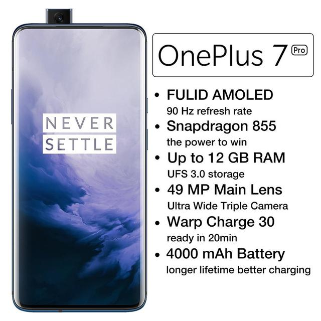 OnePlus 7 Pro Global Version Unlock Phone Smartphone 48 MP Camera Snapdragon 855 Octa Core Android Mobile UFS 3.0 NFC 1