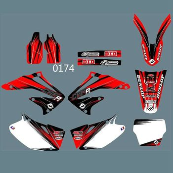 New Full Graphics Decals Stickers Custom Number Name Glossy Bright Stickers Waterproof for HONDA CRF450 2002-2004