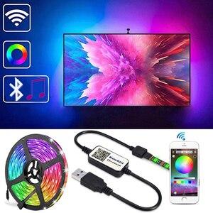 Bluetooth LED Strip Light RGB 5050 SMD Flexible Ribbon Waterproof RGB LED Light USB 5V Bluetooth Control