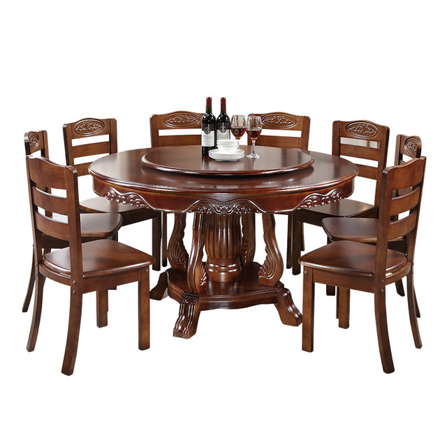 Round Dining Table Set w/ Turntable  3