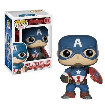 Funko Pop Captain America Surrounding Avengers 2 Funko POP Static Q Version Hand-made Desktop Model Decoration Toy
