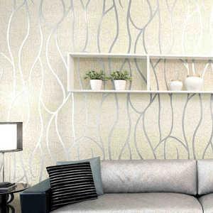 Image 3 - 10M auf woven Tapete Einfache Tapete Rollen Schlafzimmer Esszimmer Wohnzimmer Wand Abdeckt Moderne 3D Wand Papier Home decor