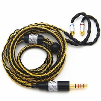 HiFi Balanced Audio Cable 3.5mm TRS TRRS 2.5mm TRRS 4.4mm 6.35mm 4 Pin XLR MMCX 8 core Single Crystal Copper Plated Gold Silver