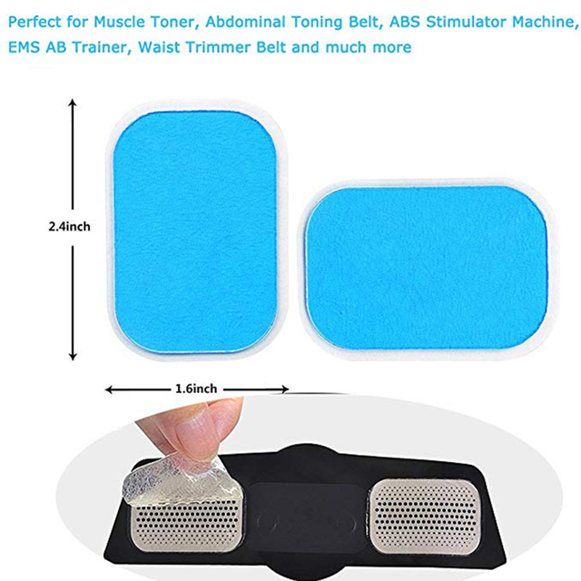 30 PCS Abs Stimulator Gel Pads 2pcs//15 Packs Fayleer Replacement Gel Sheets EMS Gel Pad for EMS Muscle Trainer Abdominal Toning Belt Accessories