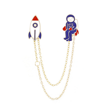 Hot Sell Space Travel Collection Enamel Pin Cartoon Astronaut Planet Star Brooch Lapel Custom Badge Gift for Kids Girl