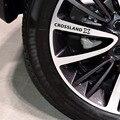 4 шт., автомобильные диски, гоночные наклейки для Opel CROSSLAND X