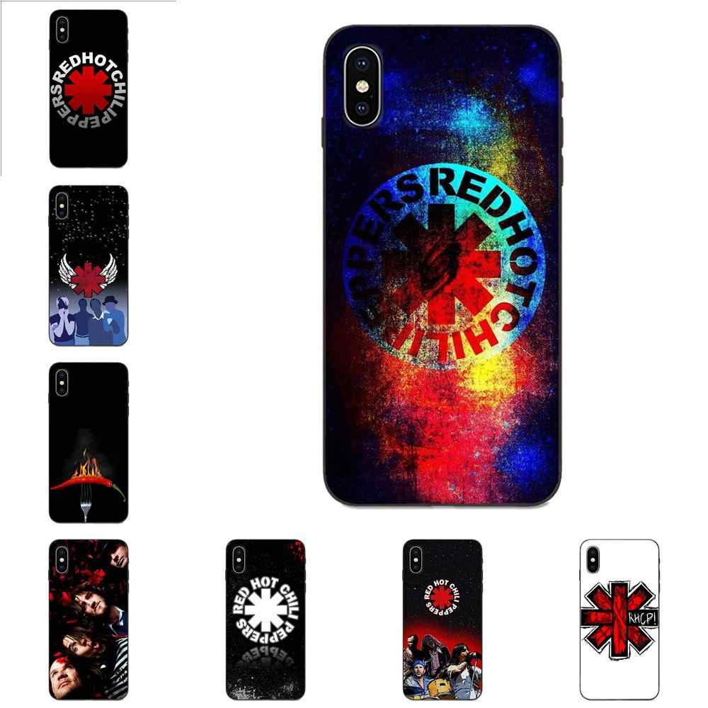 Accesorios TPU caso Red Hot Chili Pepper llamas Galaxy A3 A5 A6 A6s A7 A8 A9 A10 A20E A30 A40 A50 A60 A70 A80 A90 Plus 2018
