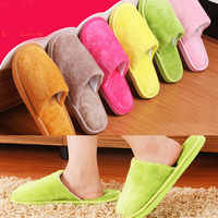 Soft Plush Home Slippers Men Indoor Cotton Shoes Big Size Winter Casual Sneakers For Men Floor Warm Slipper