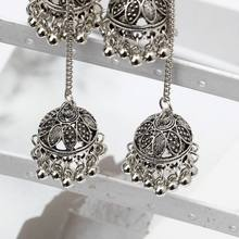 Indian Vintage Bollywood Gypsy Oxidized Silver Traditional Jhumka Jhumki Earring N58F(China)