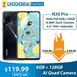 Doogee N20 Pro Smartphone Quad Cameras 6GB RAM 128GB ROM 6.3