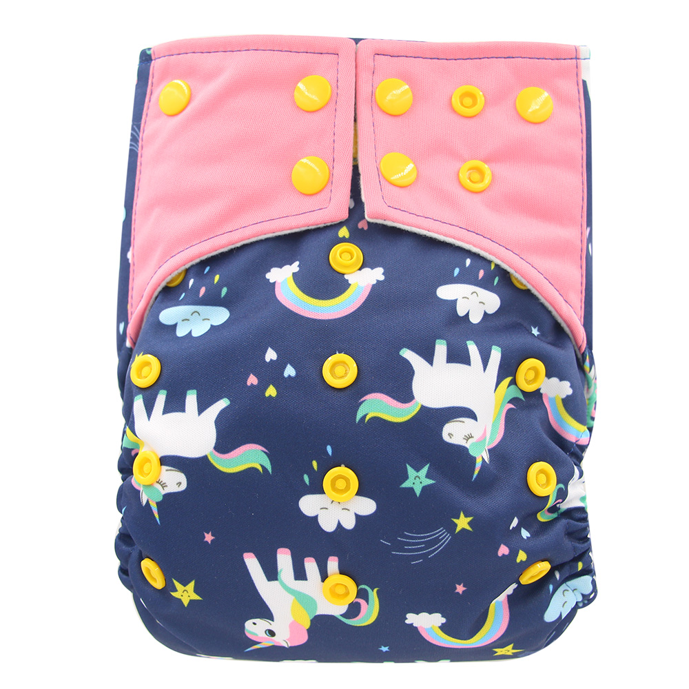 AI2 Nappies Reusable Cloth Diapers Waterproof Baby Diaper Cover Bamboo Charcoal Washable Infant Kids Nappy One Size Fit All