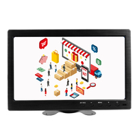 10.1 Inch 1920x1200 Portable Monitor with VGA HDMI BNC USB Input for PS3/PS4 XBOX360 Raspberry Pi Windows 7 8 10 System CCTV