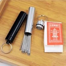 Agujas de roscado automático ojo grande de 20 piezas agujas de coser a mano para el hogar agujas de bordar y agujas Vintage herramientas de costura DIY