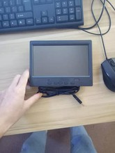 Monitor de tela touch screen para carro 7 polegadas, monitor pequeno portátil de tela lcd 1024*600 full hd retrovisor automotivo reverso