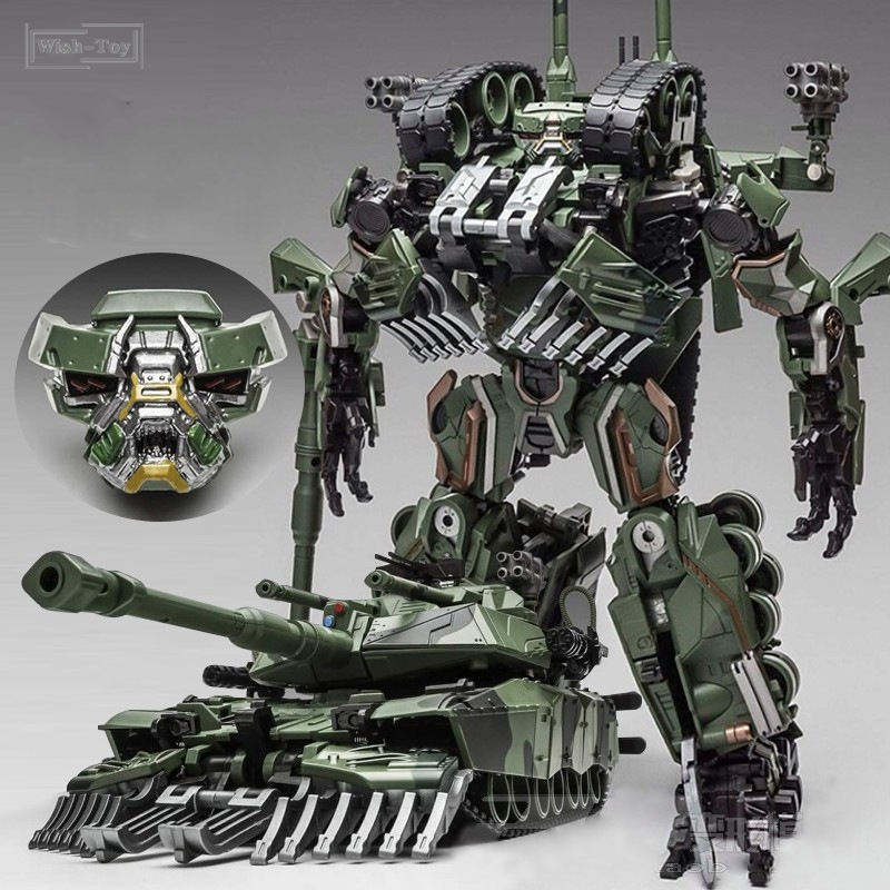 WJ Transformation Toys Brawl Alloy 28CM SS Leader Camouflage Tank M1A1 Mode KO Action Figure Robot