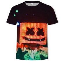 Men's 3DT Shirt Disco Dj Rock Men's Party Music Sound Activation Led T-shirt Up and Down Punk Flashing Equalizer Men's Tshir