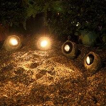 Imagem de fundo artificial de luz solar 4led à prova dwaterproof água água resina gramado