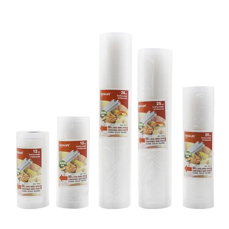 5 rolls set-TINTON LIFE vacuum bags for food Fresh Long Keeping 12+15+20+25+28cm*500cm Rolls/Lot bags