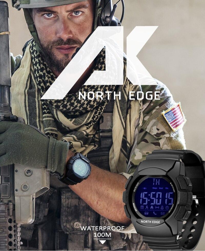 Montre Homme étanche 100M connectée NORTH EDGE Sport
