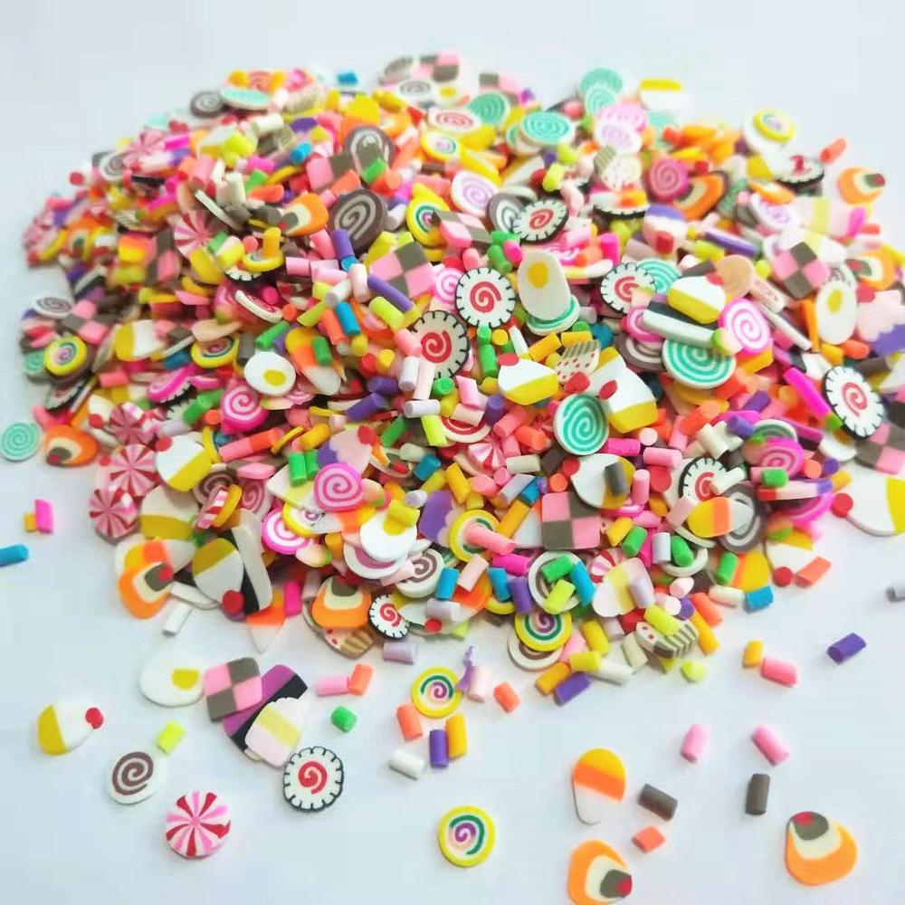 20g/lot Mix Cakes & Sprinkles Polymer PVC Clay Colorful Candy Cute Desserts For DIY Crafts