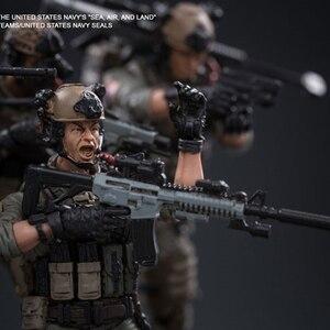 Image 3 - Joytoy 1/18 アクションフィギュア米国海軍シール兵士 (6 ピース/セット) モデルのおもちゃ誕生日/クリスマスプレゼント送料無料