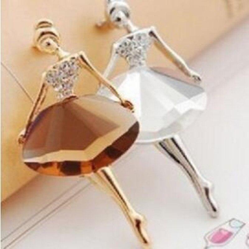 Gariton2019 Duas Jóias dança Ballet Menina de Cristal Rhinestone Broches Para As Mulheres