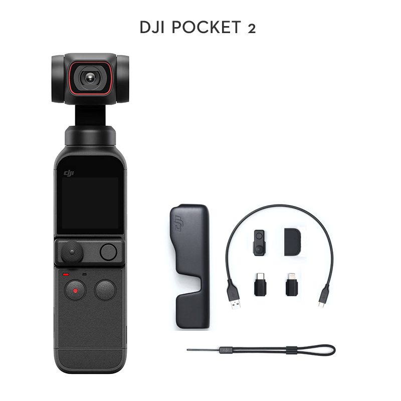 details about dji osmo pocket 2 3 axis gimbal stabilizer 4k pocket camera 8x zoom activetrack