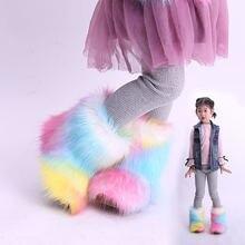Зимние новые детские ботинки модные модели для девочек на снежную