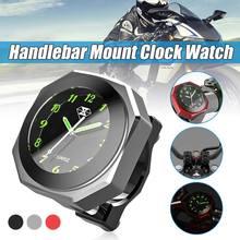 Uniwersalny kierownica motocykla zegar montażowy zegarek wodoodporna tarcza ze stopu aluminium zegar Horologe dla 7/8 ''kierownica do motocykla